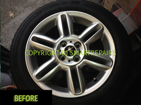 Alloy Wheel Colour Change Before