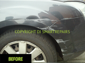 Car Scratch Repair Before
